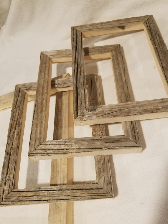 Driftwood Picture Frame Clean Milled Edge Rustic 4x6 5x7 Etsy