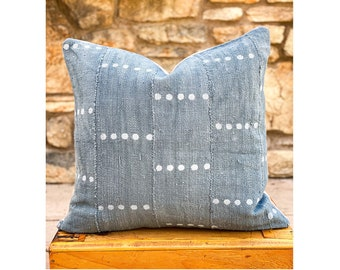Indigo Mud Cloth Pillows
