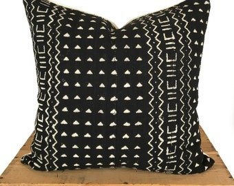 Black Mud Cloth Pillows