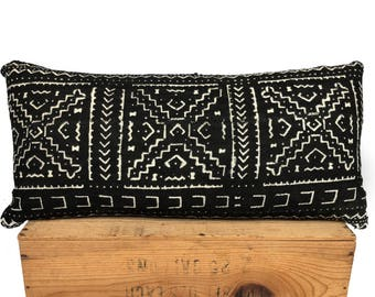 """Mud Cloth Pillow Cover Black and White Mudcloth Pillow   """"Colleen"""""""