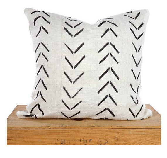 Mudcloth Pillow Cover African Mud Cloth