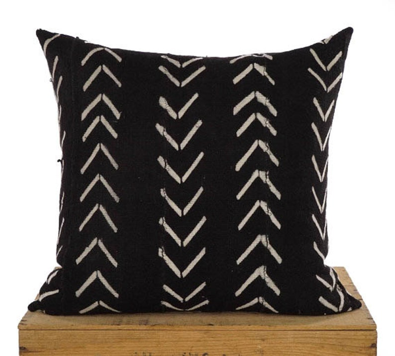 Maxwell Authentic African Mud Cloth Pillow Cover Mudcloth image 0