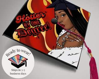 """Graduation Cap Topper """" Megan Thee Stallion"""" inspired! Ready-to-Wear// Great for college and Highschool Graduates"""