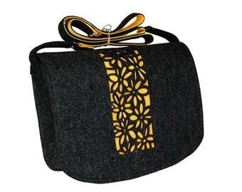 Felt Laptop bag 15 inch with pocket, satchel, Macbook Pro 15 in, Custom size Laptop bag, sleeve,case,belt shoulder