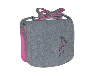 Felt Laptop bag 15 inch with pocket, satchel, Macbook Pro 15 in, Custom size Laptop bag, sleeve, case, shoulder bag