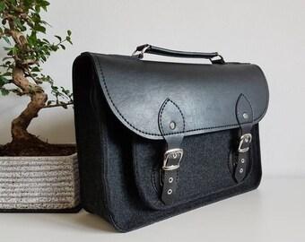 Satchel, bag for laptop,felt laptop bag,waterproof bag, Messenger, macbook case, laptop sleeve