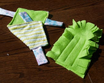 Cloth duster and mop set. Eco friendly washable reusable mop. Cleaning home office. Upcycled materials.