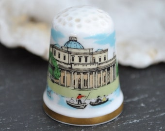 Porcelain China Collectable Thimble Salavation Army Formed 150th Anniversary