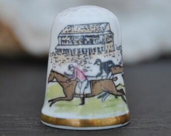 Vintage china thimble Holiday Souvenir Scotland Moffat