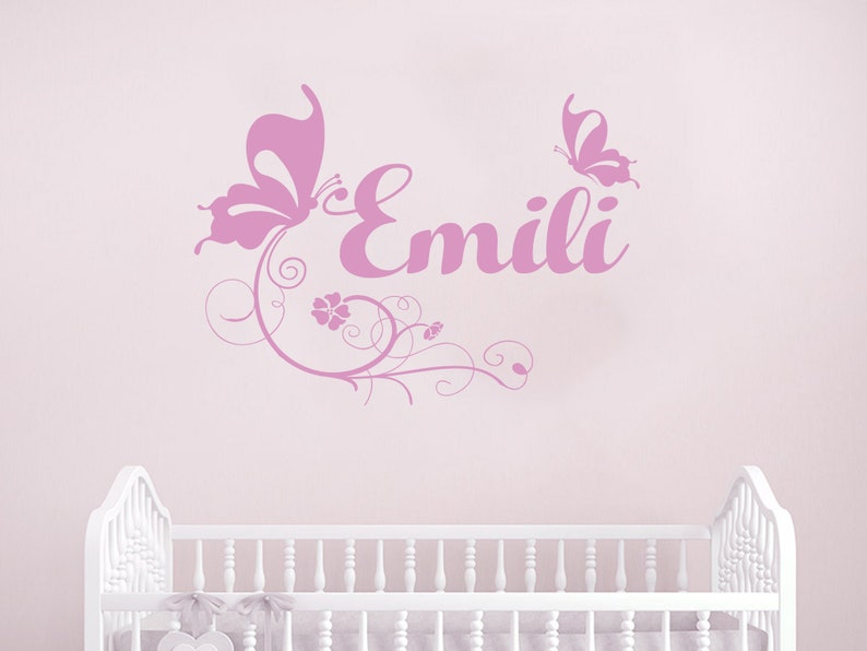 Personalised Name bedroom kids unicorn decal high gloss vinyl stickers