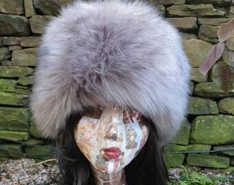 Gorgeous Steel Grey Luxury Faux Fur Hat-Polar Fleece Lined-Fur Hat-Fake Fur Hat-Winter Hat-Long Fur Hat-Cossack Hat-Womens Russian Hat