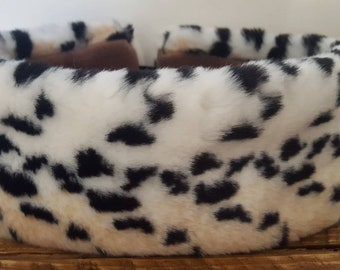 Lovely Soft Leopard Faux Fur Headband / Neckwarmer / Earwarmer Handmade in Lancashire England