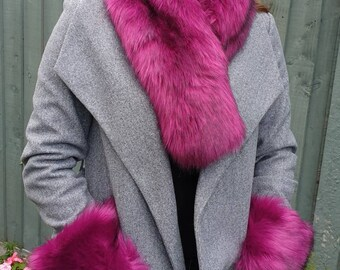 Faux Fur Scarf with Faux Suede Reverse All Colours Available