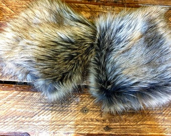 Faux Mink  Fur Cuffs- Faux Suede Lining- Elasticated at One End-Fur Cuffs-Wrist Cuffs-Faux Fur Cuffs-Fluffy Cuffs-Mink Cuffs-Fox Cuffs