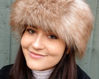 Sherry Fox Luxury Faux Fur Headband / Neckwarmer / Earwarmer Handmade in Lancashire England