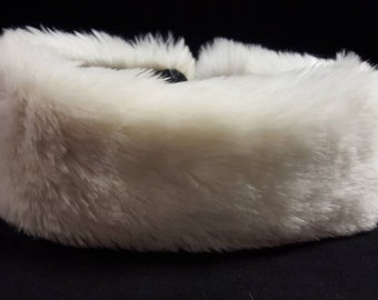 Soft Cream Faux Fur Headband / Neckwarmer / Earwarmer Handmade in Lancashire England
