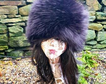 Beautiful Black Super Thick-Luxury Faux Fur Hat-Polar Fleece Lined-Fur Hat-Fake Fur Hat-Winter Hat-Long Fur Hat-Black Fur Hat-Black Fur