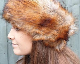 Long Faux Fox Fur Headband / Neckwarmer / Earwarmer Handmade in Lancashire England
