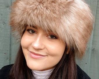 Sherry Fox Luxury Faux Fur Headband-Neckwarmer-Earwarmer-Head Wrap-Fur Head Wrap-Handmade in Lancashire England