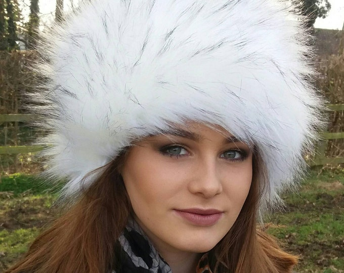Featured listing image: Extra Special White 'Bond Girl' Hat with Black Tips!
