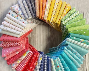 Farm Girl Vintage 52 Fat Quarter Bundle by Lori Holt Riley Blake Rainbow Selection