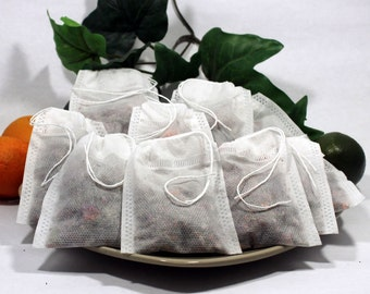 """Empty Woven Style Draw String Tea Bags 2.75"""" x 3.5"""" 70mm x 90mm (50 pack)"""