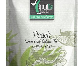 1 oz. Peach Oolong Loose Leaf Tea