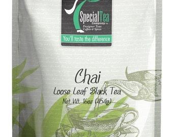 16 oz. Organic Chai Black Loose Tea with Free Tea Infuser