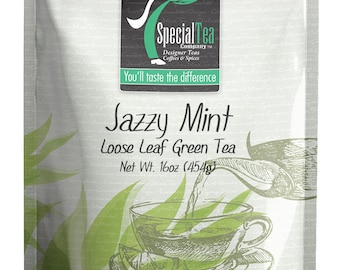 16 oz. Jazzy Mint Green Tea with Free Tea Infuser