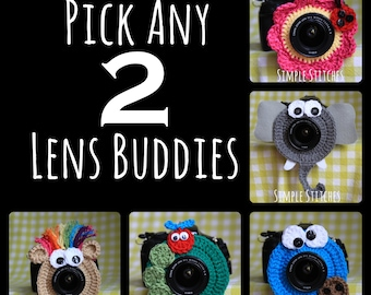 Pick Any 2 Camera Lens Buddies - Over 29 Choices - Photography Helper