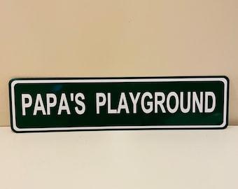 Custom Papa's Playground Street Sign