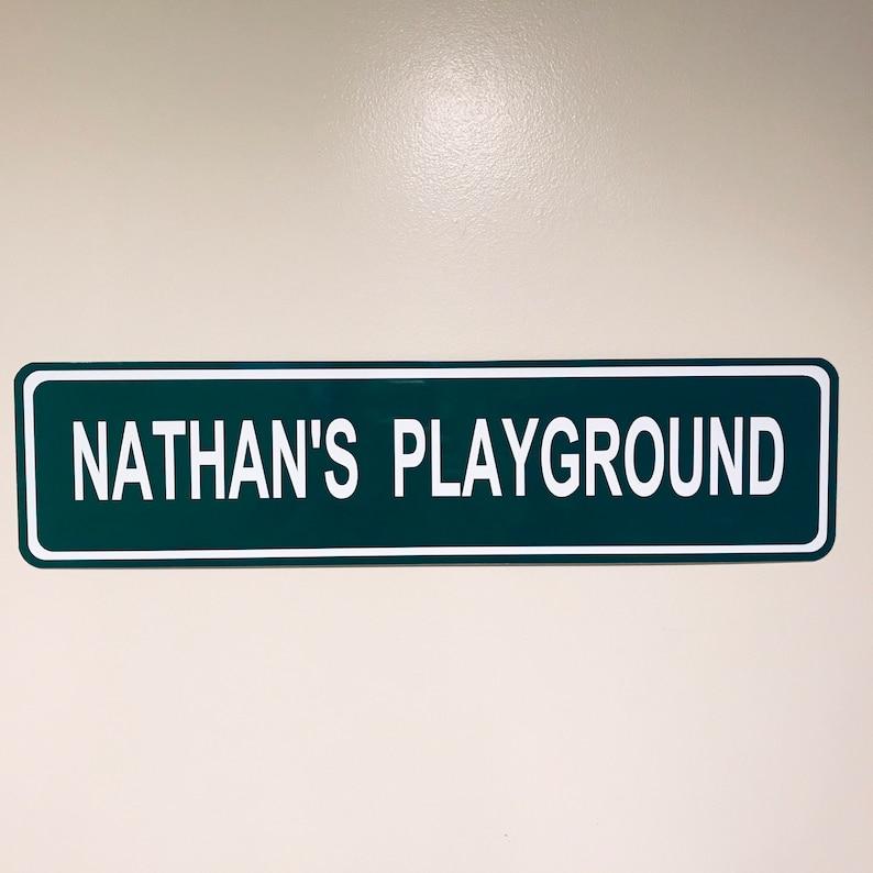 Custom Nathans Playground Street Sign image 0