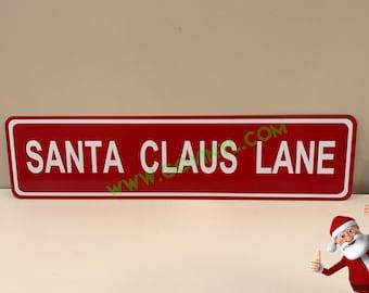 Santa Claus Lane - Street Sign