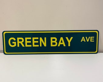 Green Bay Avenue Street Sign (Ave)