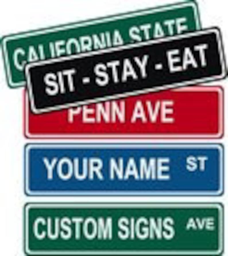 Custom Personalized Street / Road Name Sign.  Choice of image 0