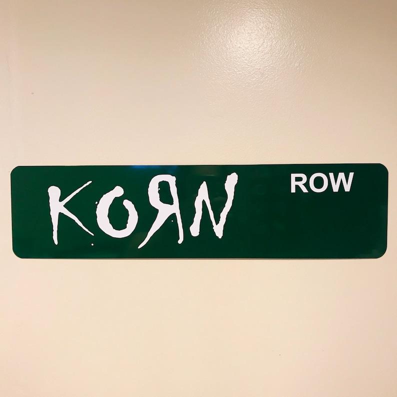 Korn Row Street Sign Aluminum 6 x 24 image 0