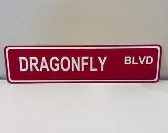 "6"" x 24"" DRAGONFLY (BLVD) Aluminum Street Sign"