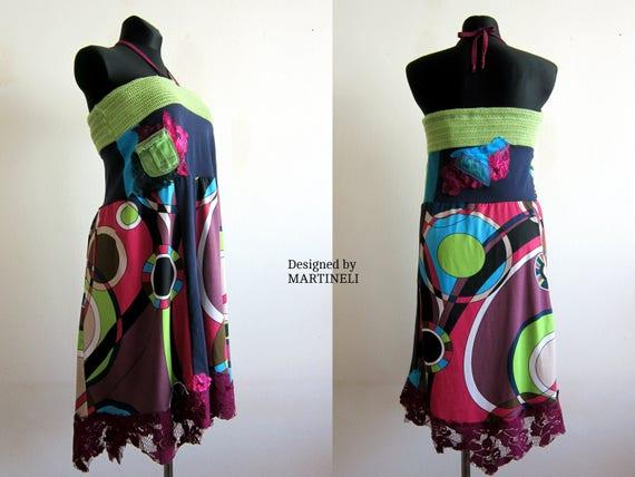 Skirt M Skirt Lagenlook Boho Chic Skirt Gypsy Skirt Lace Hippie Skirt Clothing Colorful Upcycled Shabby Long Chic People L Skirt Free Boho xxrUwTq