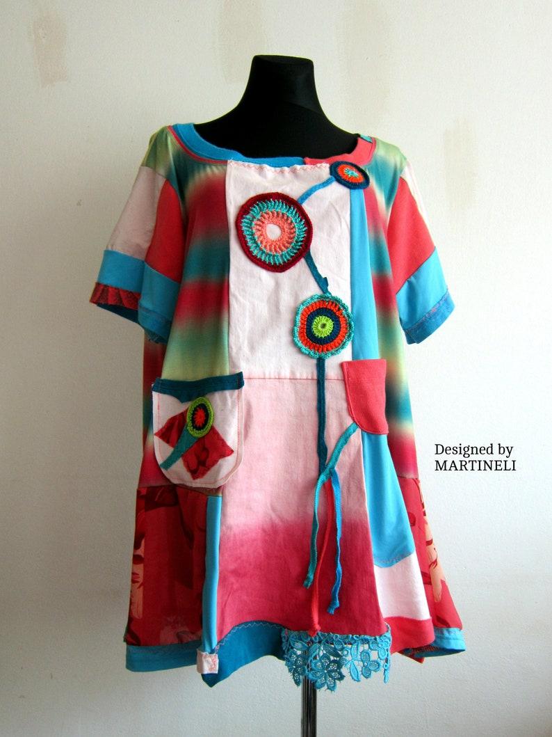 1b9d4794cb6 XXL Rainbow Colors Tunic Boho Plus Size Trendy Plus Size