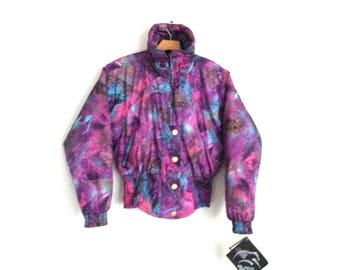 1cd9b758bd Rad Vintage 90s Ski Jacket Fuscia Women s Size 10