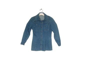 7efb34df9e Women s Vintage 70s Denim Landlubber Shirt Jacket