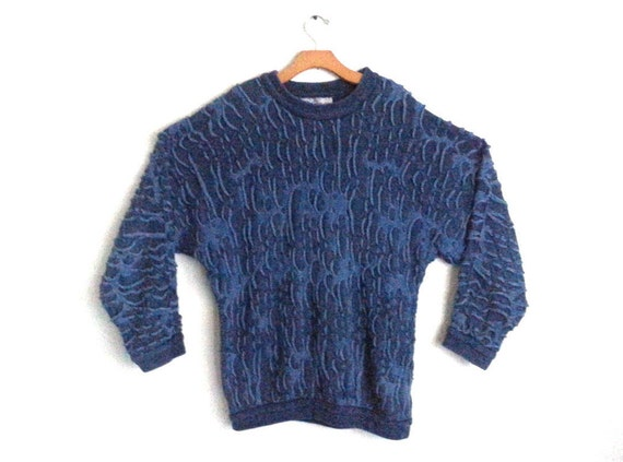 Vintage 90s Coogi Sweater Cotton Blue Pullover Men