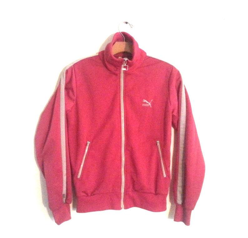 49214bd6b1423 Vintage Puma Track Jacket Fuscia Pink Trainer Small XS