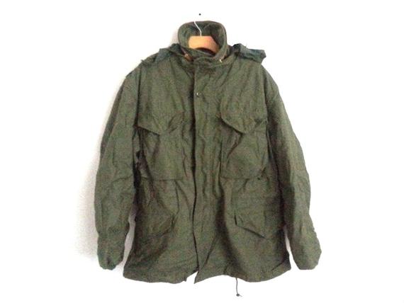 Vintage Army Field Jacket Military Surplus Men s Medium  3f676dc656f