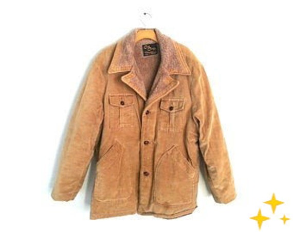 Men's Vintage 70s Corduroy Jacket Cal Craft Pile L