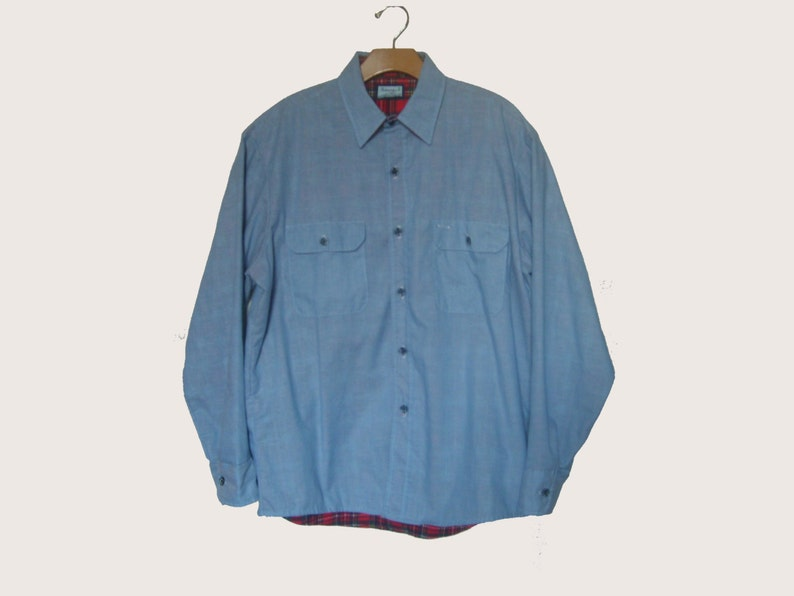 4be67f07827 Vintage Insulated Chambray Work Shirt Fieldmaster Men s