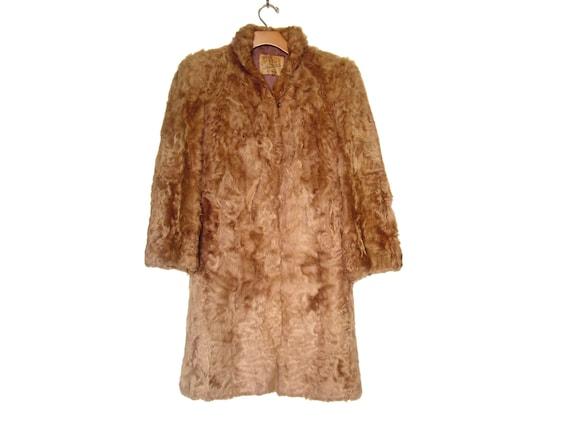 Vintage 30s - 40s Brown Fur Coat Worths