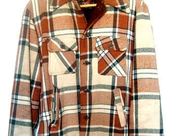Men's Vintage 70's Plaid Flannel Work Jacket
