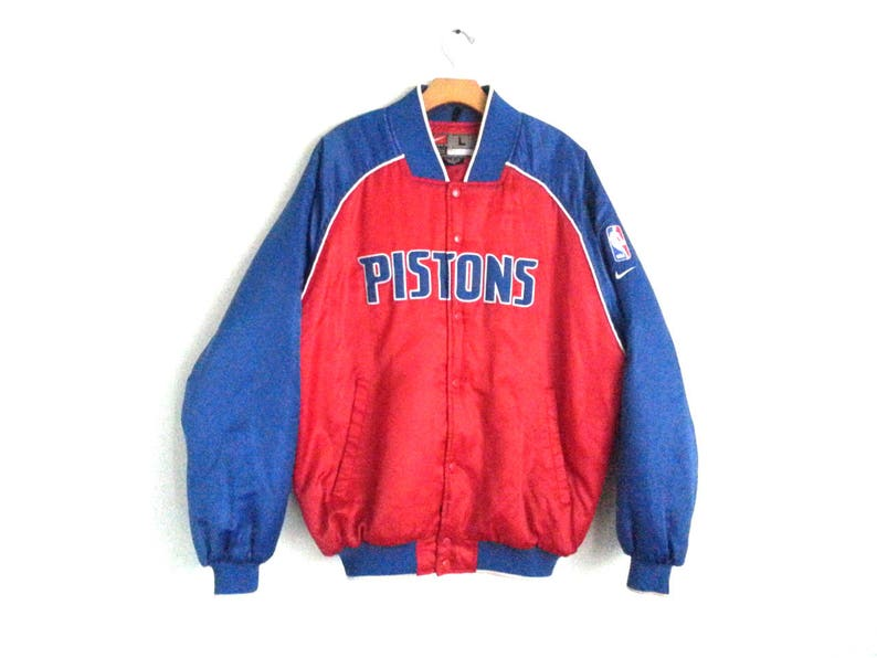 7ccb8719 Vintage 80s 90s Nike Team Jacket Detroit Pistons Basketball   Etsy