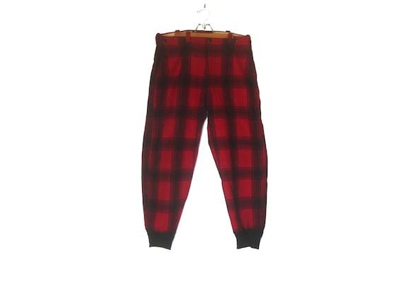 Vintage 50s Wool Plaid Hunting Pants Lumberjack La